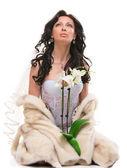 Brunette bride — Stock Photo