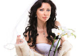 Brunette bride — Stock Photo