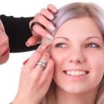 Makeup artist at work — Stock Photo #5781308