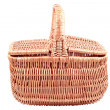Basket on a white background — Stock Photo