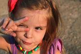 Happy Little Girl outdoor — Stock Photo