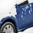 Cars in winter — Stock Photo
