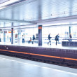 Subway station (motion blurred & color toned image) — Foto de Stock