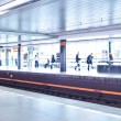 Subway station (motion blurred & color toned image) — 图库照片