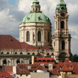 Splendid baroque church of Saint Nicolas, Prague, Czech republic — Stock Photo #6148328