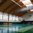 Interior of a modern multifunctional gymnasium with young — Stock Photo #6148447