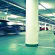 Underground parking/garage (color toned image) - Stockfoto