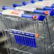 Supermatket trolleys (shallow DOF) — ストック写真
