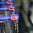 Supermatket trolleys (shallow DOF) — Stock Photo #6149334