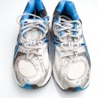 Pair of running shoes on a white background (shallow DOF; color — Stock Photo #6149416
