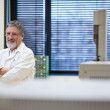Renowned scientist/doctor in a research center/hospital laborato — Stock Photo