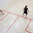 Two female squash players in fast action on a squash court (moti — Stock Photo #6149683