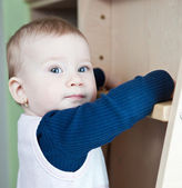 Cute toddler (shallow DOF; color toned image) — Stock Photo
