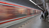 Subway (motion blurred & color toned image) — Stock Photo