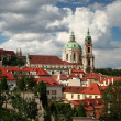 Prague, Czech republic - View od Hradcany with the splendid baro - Stock Photo