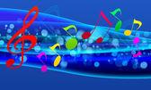 Muzikale muur-papier — Stockfoto