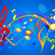 MUSICAL SUMMER WALLPAPER — Stock Photo #5436024