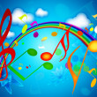 Stock Photo: Colorful SUMMER MUSIC WALLPAPERS