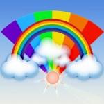 RAINBOW SUMMER BACKGROUND — Stock Photo