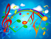 Colorful SUMMER MUSIC WALLPAPERS — Stock Photo