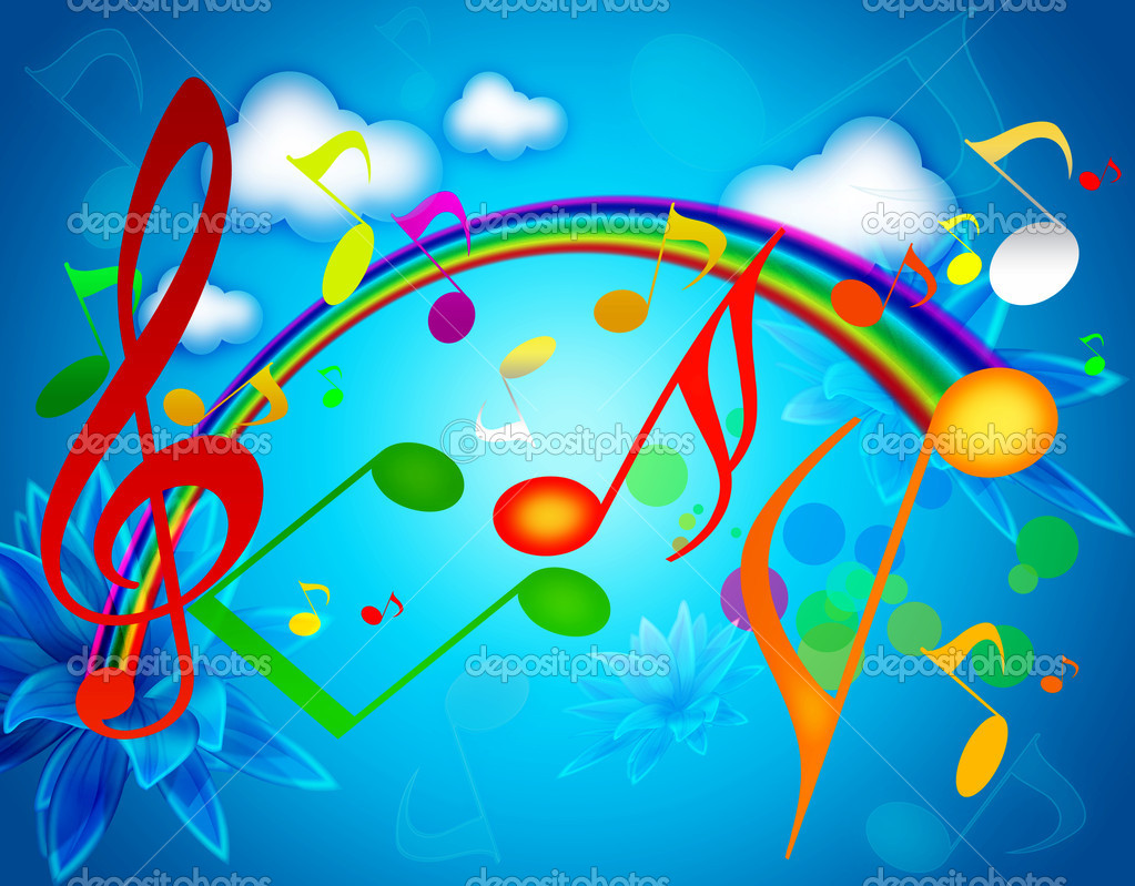 Colorful SUMMER MUSIC WALLPAPERS — Stock Photo © Westa ...