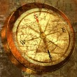 Stock Photo: Grunge background with COMPASS
