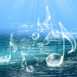 FLOATING MUSIC NOTES — Foto Stock