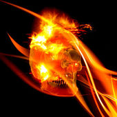 Flaming Skull — Stock Photo