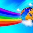 Stock Photo: EARTH ON THE RAINBOW