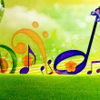 Stock Photo: SUMMER MUSIC WALLPAPERS