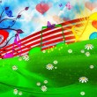 SUMMER MUSICAL BACKGROUND — Stock Photo #6076402