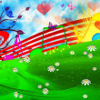 SUMMER MUSICAL BACKGROUND — Stock Photo