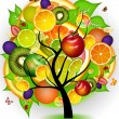 FUTURISTIC  FRUIT   TREE - Stock Photo