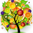 FUTURISTIC FRUIT TREE — Stock Photo