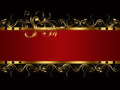 BANNER RED BLACK GOLD — Stock Photo