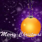 CHRISTMAS CONGRATULATING CARD — Stock Photo