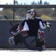 Stock Photo: Street hockey goalie