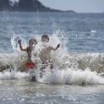 Boys in the ocean — Stock Photo #6375209