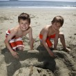 Building a sandcastle — Stock Photo #6375275