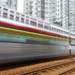 Light rail. It is a kind of transportation in Hong Kong area. — Stock Photo