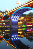 Fenghuang ancient town in Hunan Province at night — 图库照片