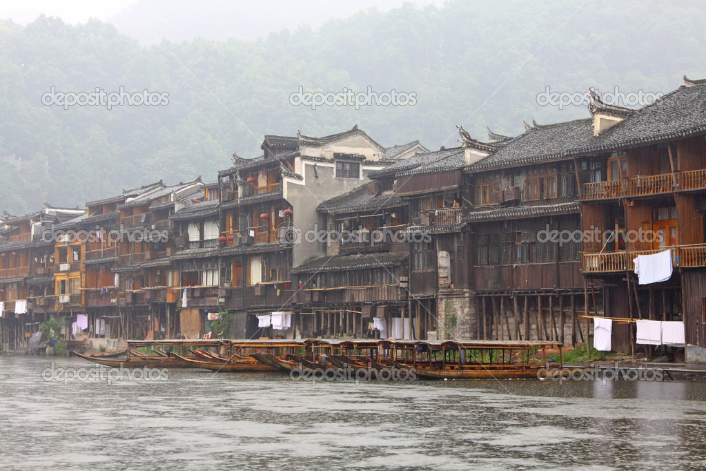 It is one of most famous ancient town in China, Hunan Province. — Stock Photo #5698466