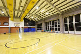 A perspective view of a basketball court — Stock Photo