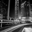 Traffic through downtown in Hong Kong at night — Stock Photo #5786323