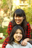 Friendship forever concept by asian girls — Stock Photo