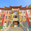 Miu Fat Buddist Monastery in Hong Kong - Stock Photo