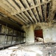 Old room of a fire station ruin - Stock Photo