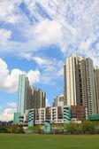 Hong Kong downtown at day time — Stock Photo