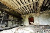 Stará místnost požární stanice zřícenina — Stock fotografie
