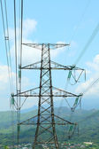 Power transmission tower with cables — Stock Photo
